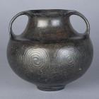 古代イタリアの陶器と、コプトの染織・彫刻