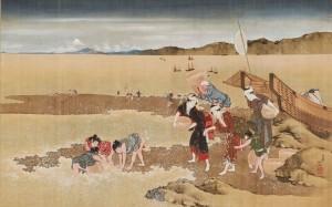 北斎「潮干狩図」 (1024x639)